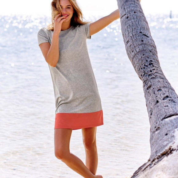 Boden Dresses Uk Gray Tshirt Dress Sz 8l Poshmark